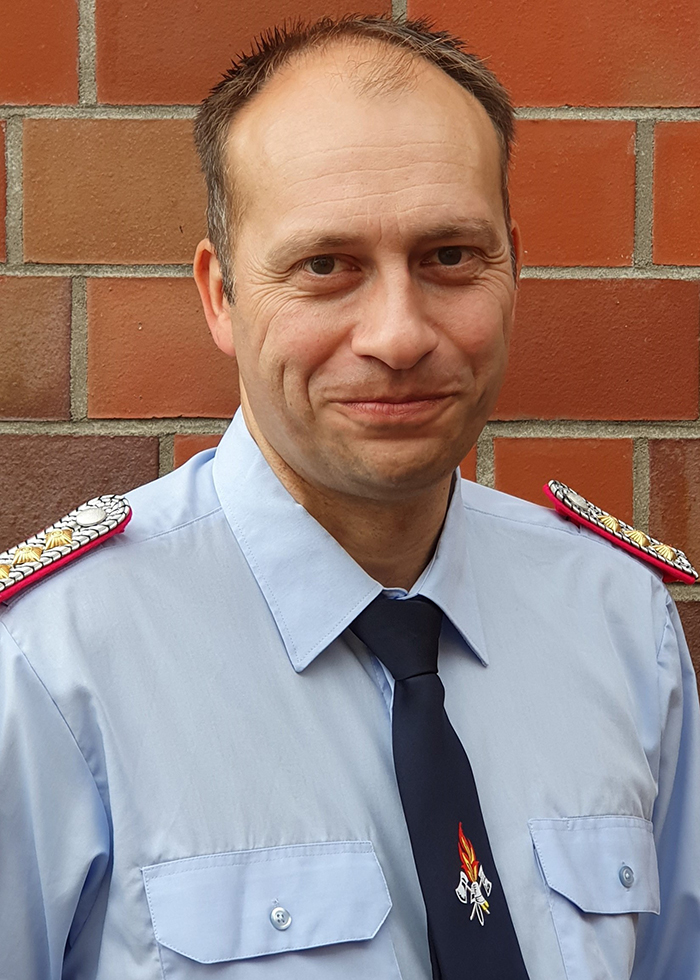 Jens Bullwinkel, Begrüßung in Uniform